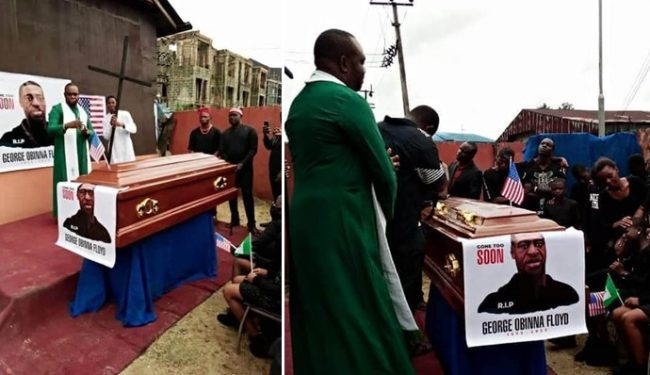 Photos From George Floyd Funeral in Imo state