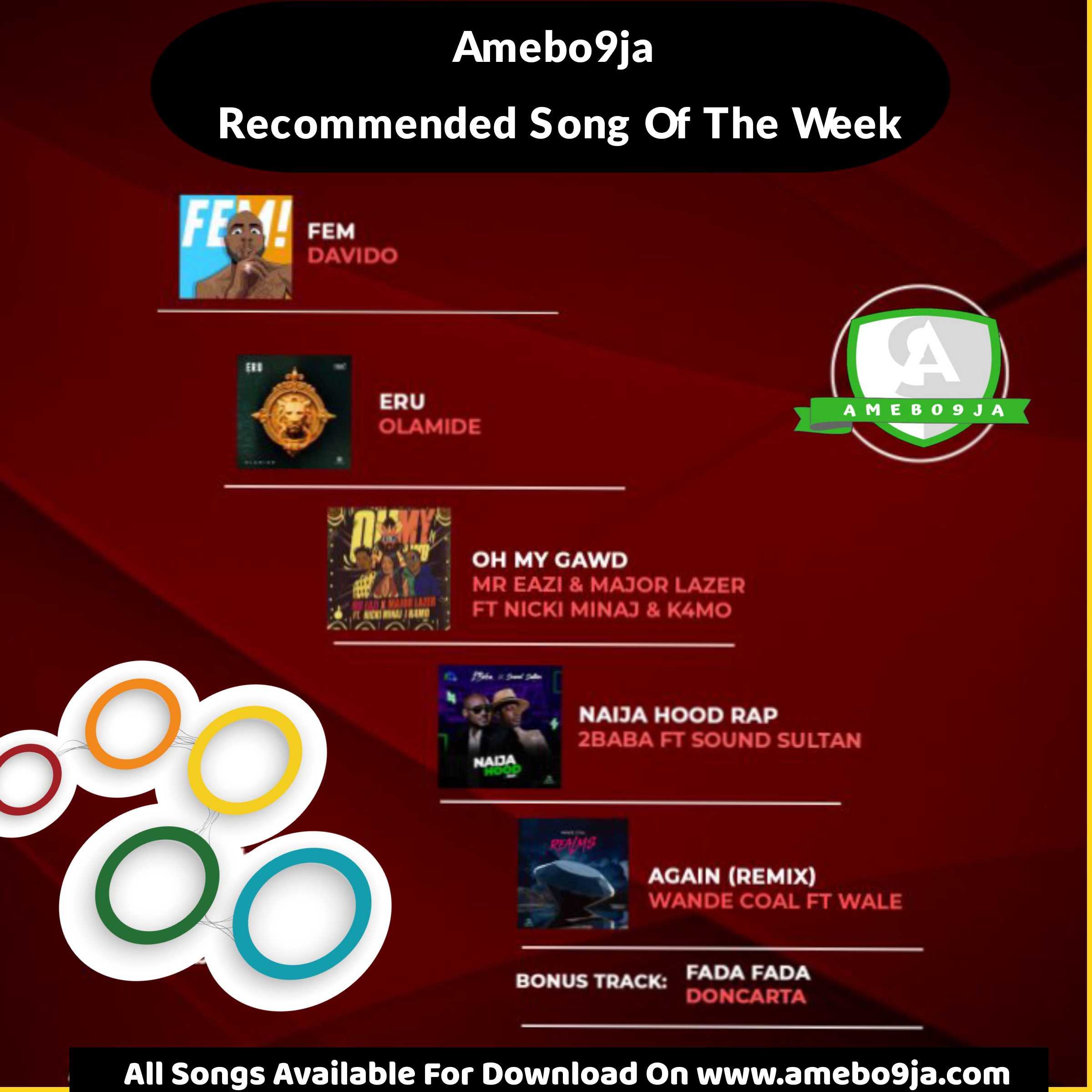 AMEBO9JA Recommended Songs For The Week