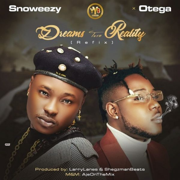 DOWNLOAD Snoweezy ft Otega – Dreams Turn Reality (Refix) Mp3