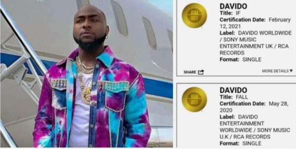 "Confirm! Davido's hit single ""If"" Certified gold in the US (Photos)"