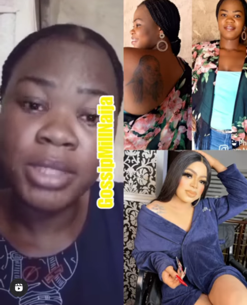 Lady Disown for tattooing bobrisky on her back, cries out