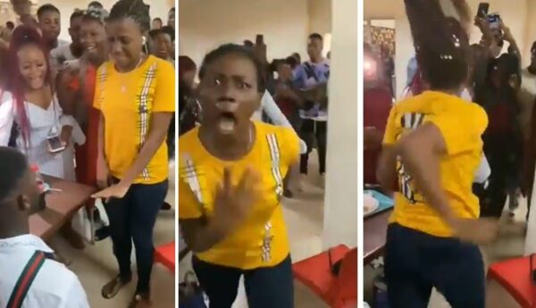 Big Trouble! As Lady Allegedly Runs Insane During Proposal (Video)