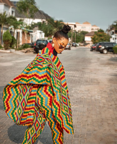 Tacha Looking Gorgeous On Ghanaian Outfit As She Marks Independent Day (Photos)